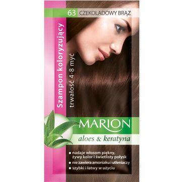Marion Aloes & Keratyna – szampon koloryzujący do włosów nr 63 Czekoladowy Brąz (80 ml)