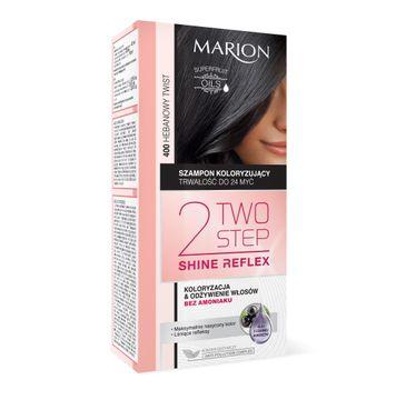 Marion Two Step Shine Reflex – szampon koloryzujący nr 400 Hebanowy Twist  (1 op.)