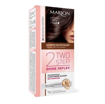 Marion Two Step Shine Reflex – szampon koloryzujący nr 401 Brunatny Fokstrot  (1 op.)