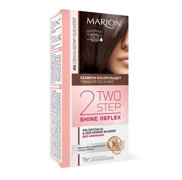 Marion Two Step Shine Reflex – szampon koloryzujący nr 403 Czekoladowy Quickstep  (1 op.)