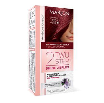 Marion Two Step Shine Reflex – szampon koloryzujący nr 407 Wiśniowe Flamenco  (1 op.)