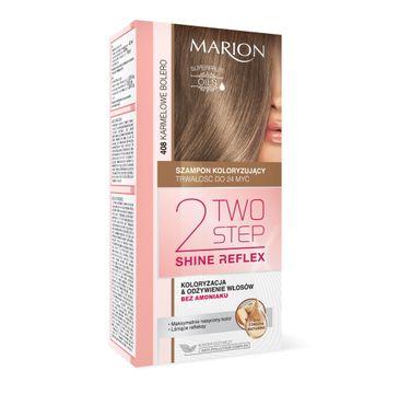 Marion Two Step Shine Reflex – szampon koloryzujący nr 408 Karmelowe Bolero  (1 op.)
