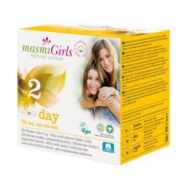 Masmi – Girls podpaski na dzień z bawełny organicznej Size 2 (10 szt.)