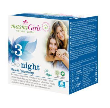 Masmi – Girls podpaski na noc z bawełny organicznej Size 3 (10 szt.)