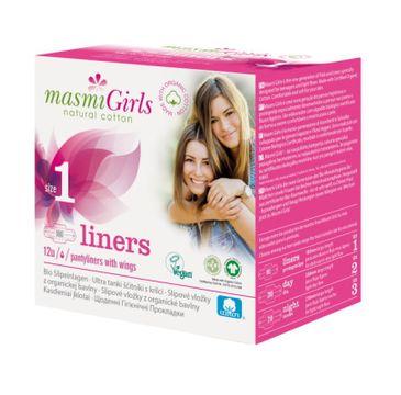 Masmi – Girls wkładki higieniczne z bawełny organicznej Size 1 (12 szt.)