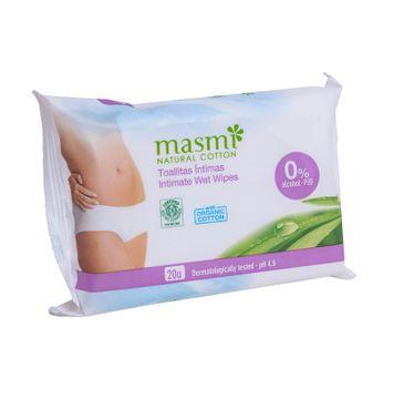 Masmi – Natural Cotton wilgotne chusteczki do higieny intymnej (20 szt.)
