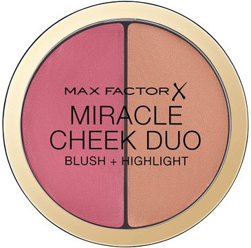 Max Factor Miracle Cheek Duo Blush & Highlight róż i rozświetlacz do twarzy 30 Dusty Pink & Copper (11 g)