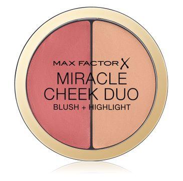 Max Factor Miracle Cheek Duo Blush & Highlight róż i rozświetlacz do twarzy Peach & Champagne 11g
