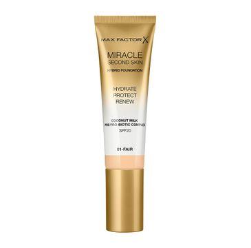 Max Factor Miracle Second Skin Hybrid Foundation podkład nawilżający z filtrem 01 Fair (30 ml)