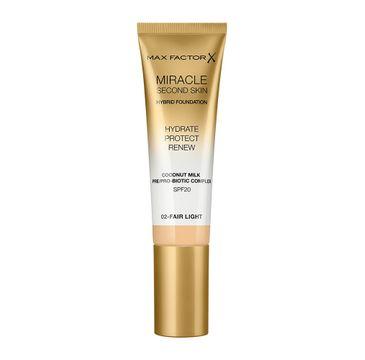 Max Factor Miracle Second Skin Hybrid Foundation podkład nawilżający z filtrem 02 Fair Light (30 ml)