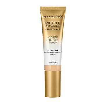 Max Factor Miracle Second Skin Hybrid Foundation podkład nawilżający z filtrem 03 Light (30 ml)