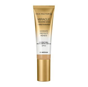 Max Factor Miracle Second Skin Hybrid Foundation podkład nawilżający z filtrem 05 Medium (30 ml)