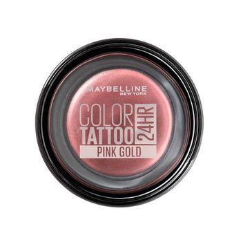 Maybelline – Color Tattoo 24HR kremowy cień do powiek 65 Pink Gold (4 g)