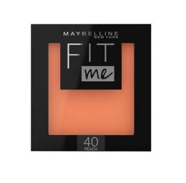 Maybelline – Fit Me Blush róż do policzków 40 Peach (5 g)