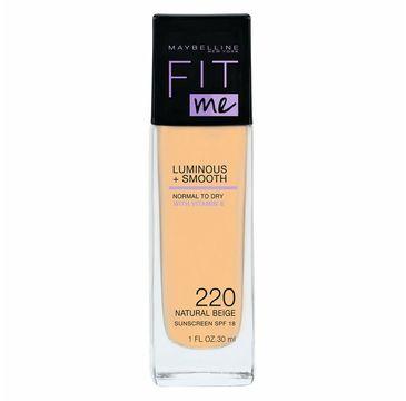 Maybelline Fit Me Luminous + Smooth Foundation rozświetlający podkład do twarzy 220 Natural Beige (30 ml)