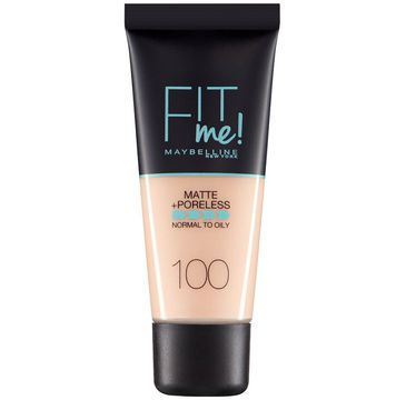 Maybelline Fit Me Matte & Poreless Foundation matujący podkład do twarzy 100 Warm Ivory (30 ml)