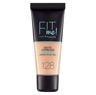 Maybelline Fit Me Matte & Poreless Foundation matujący podkład do twarzy 128 Warm Nude (30 ml)