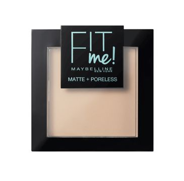 Maybelline Fit Me Matte Poreless Pressed Powder puder matujący do twarzy w kompakcie 105 Natural Ivory 9g