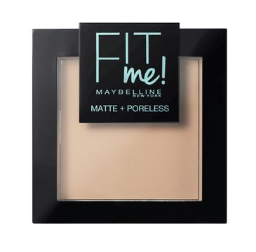 Maybelline Fit Me Matte Poreless Pressed Powder puder matujący do twarzy w kompakcie 110 Porcelain 9g