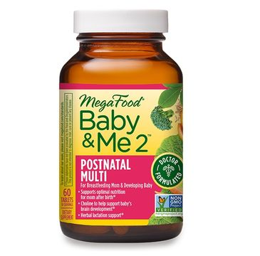 Mega Food Baby & Me 2 Postnatal Multi wsparcie poporodowe dla mamy i dziecka suplement diety (60 tabletek)