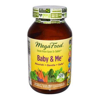 Mega Food Baby & Me organiczne witaminy dla kobiet w ciąży suplement diety 120 tabletek