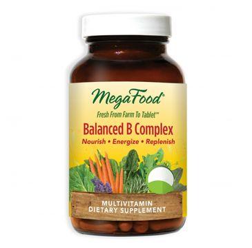 Mega Food Balanced B Complex organiczne witaminy B B12 B6 kwas foliowy suplement diety 60 tabletek