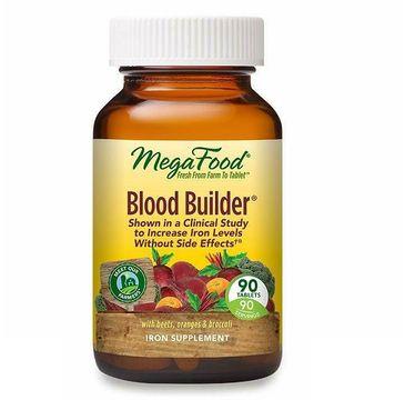 Mega Food Blood Builder suplement pomagający utrzymać prawidłowy poziom żelaza we krwi suplement diety (90 tabletek)