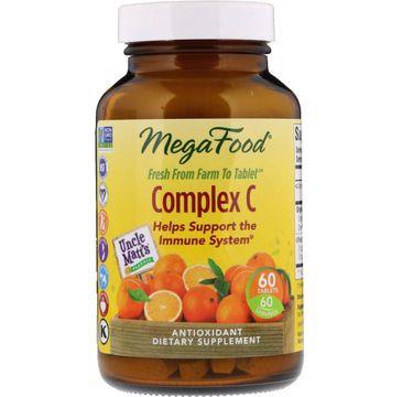 Mega Food Complex C organiczny kompleks witaminy C z pomarańczy suplement diety 60 tabletek