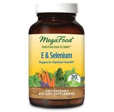 Mega Food E & Selenium witamina E i selen suplement diety 30 tabletek
