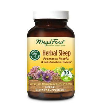 Mega Food Herbal Sleep tabletki na dobry sen suplement diety (30 tabletek)