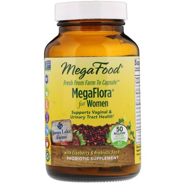 Mega Food MegaFlora For Women 16 szczepów bakterii dla kobiet suplement diety 60 tabletek