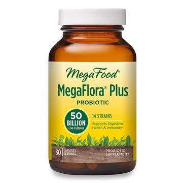 Mega Food MegaFlora Plus Probiotic probiotyki suplement diety (30 kapsułek)