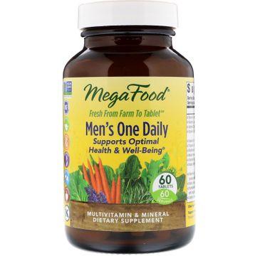 Mega Food Men's One Daily suplement diety dla mężczyzn 60 tabletek