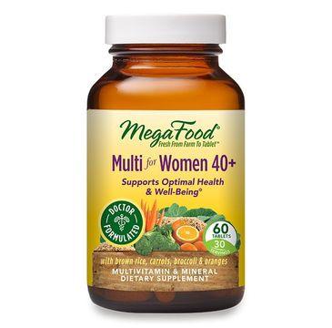 Mega Food Multi For Women 40+ witaminy i minerały dla kobiet suplement diety 60 tabletek
