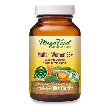Mega Food Multi For Women 55+ witaminy i minerały dla kobiet suplement diety 60 tabletek