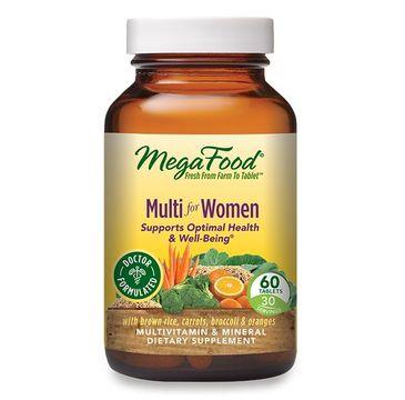 Mega Food Multi For Women witaminy i minerały dla kobiet suplement diety 60 tabletek