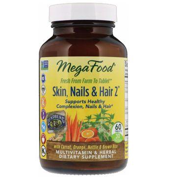 Mega Food Skin Nails & Hair skóra paznokcie włosy multiwitamina suplement diety 60 tabletek
