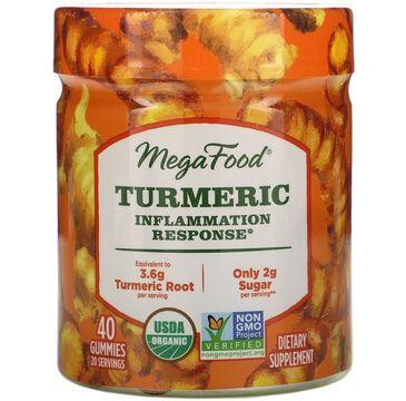 Mega Food Turmeric Inflammation Response żelki wspomagające stany zapalne suplement diety (40 szt.)