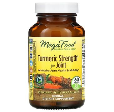Mega Food Turmeric Strength For Joint kurkuma na wzmocnienie stawów suplement diety 60 tabletek