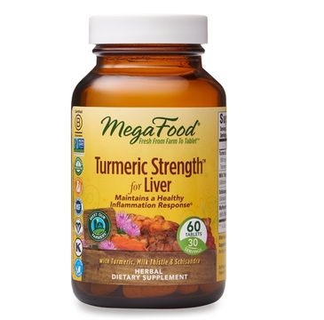 Mega Food Turmeric Strength For Liver kurkuma na wzmocnienie wątroby suplement diety (60 tabletek)