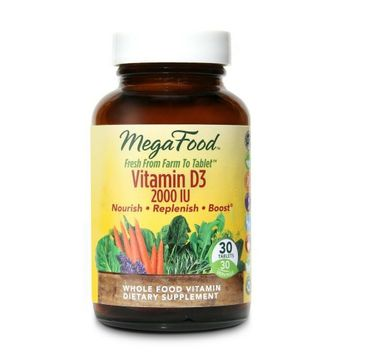 Mega Food Vitamin D3 2000 witamina D3 suplement diety 30 tabletek