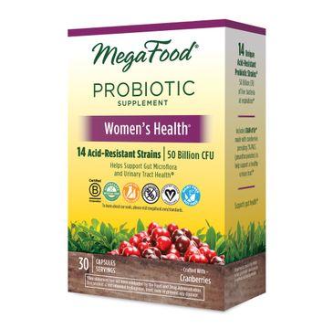 Mega Food Women's Health Shelf-Stable Probiotics probiotyk dla kobiet suplement diety 30 tabletek