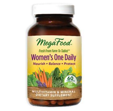 Mega Food Women's One Daily multiwitamina dla kobiet suplement diety 60 tabletek