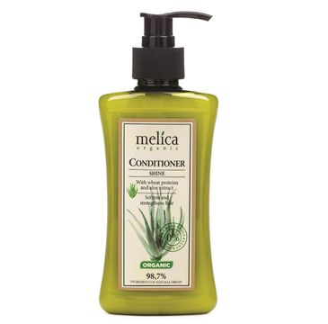 Melica Organic Conditioner Shine odżywka do włosów nadająca połysk z proteinami pszennymi i ekstraktem z aloesu (300 ml)