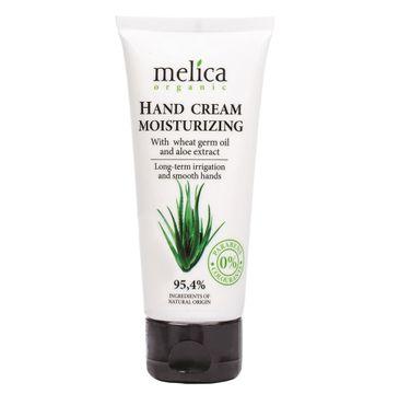 Melica Organic Hand Cream Moisturizing nawilżający krem do rąk z olejem z kiełków pszenicy i wyciągiem z aloesu (100 ml)