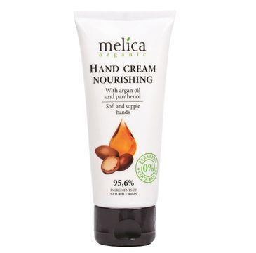 Melica Organic Hand Cream Nourishing odżywczy krem do rąk z olejem arganowym i pantenolem (100 ml)