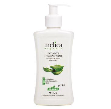 Melica Organic Intimate Hygiene Wash płyn do higieny intymnej z wyciągiem z kwasu mlekowego i aloesu (300 ml)