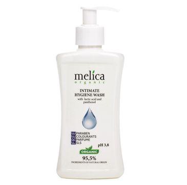 Melica Organic Intimate Hygiene Wash płyn do higieny intymnej z wyciągiem z kwasu mlekowego i pantenolem (300 ml)