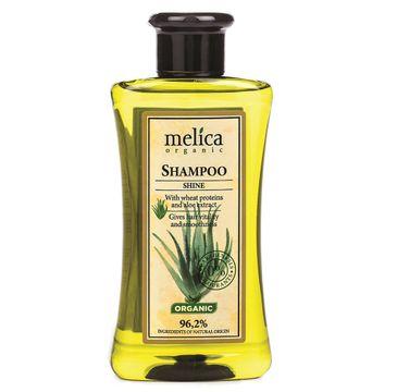 Melica Organic Shampoo Shine szampon do włosów nadający połysk z proteinami pszennymi i ekstraktem z aloesu (300 ml)