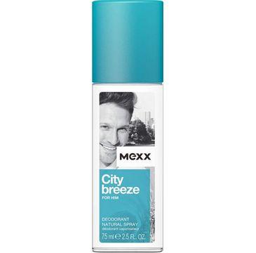 Mexx City Breeze for Him dezodorant w szkle dla mężczyzn 75 ml